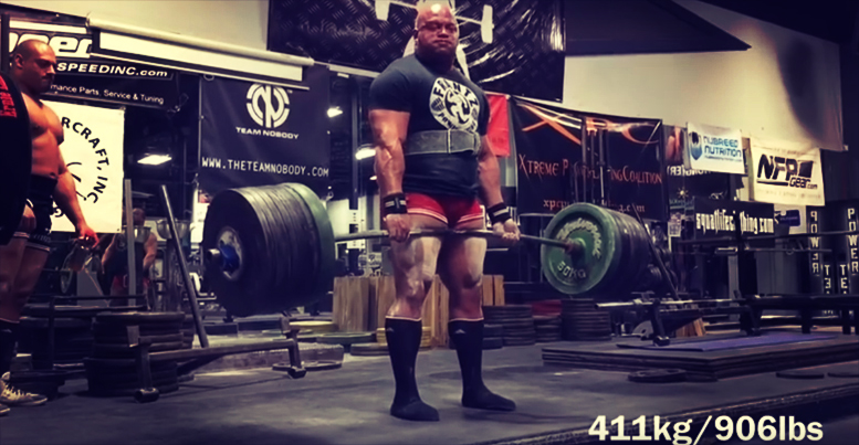 Eric Lilliebridge 906lb Deadlift PR
